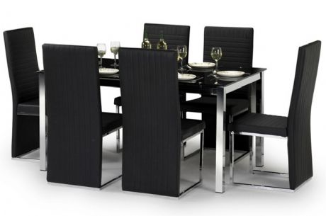 Toronto Black Amp Chrome Dining Set Sale Now On Your Price